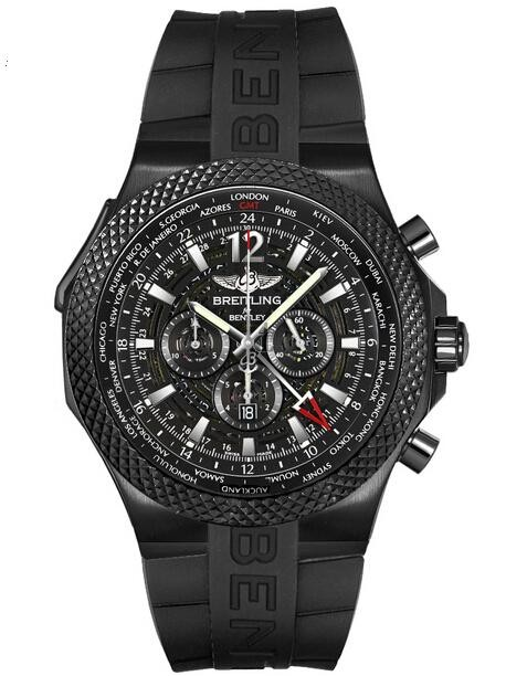 Breitling Bentley GMT Midnight Carbon Mens Watch M4736225/BC76/222S  replica.