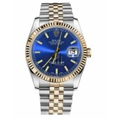 Fake Rolex Datejust 36mm Steel and Yellow Gold Blue Dial 116233 BLSJ.