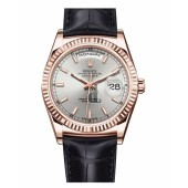 Fake Rolex Day Date Pink Gold Rhodium Dial 118135 RHL.