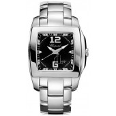 Imitation Chopard Two O Ten Black Dial Stainless Steel Ladies Watch