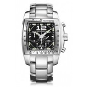 Imitation Chopard Two O Ten Automatic Chronograph Black Dial Steel Ladies Watch