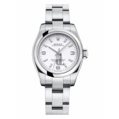 Fake Rolex Oyster Perpetual No Date Stainless Steel White dial Ladies watch 176200 WAIO.