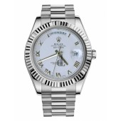 Fake Rolex Day Date II President White Gold Ivory concentric circle dial 218239 ICRP.