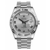 Fake Rolex Day Date II President White Gold Rhodium dial 218239 RRP.