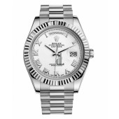 Fake Rolex Day Date II President White Gold White dial 218239 WRP.