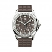 Patek Philippe Aquanaut Ladies 35.6mm Embossed Brown Arabic Diamond Bezel 5067A-023