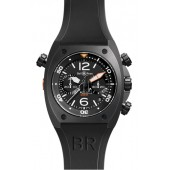 Carbon Bell & Ross Chronograph 44mm Mens Watch BR 02-94 CARBON fake