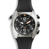 Bell & Ross Chronograph Steel Mens Watch BR 02-94 STEEL fake