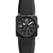 Bell & Ross GMT 42mm Mens Watch BR 03-51 GMT CARBON fake