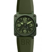 Military Ceramic Bell & Ross Automatic 42mm Mens Watch BR 03-92 Military Ceramic fake