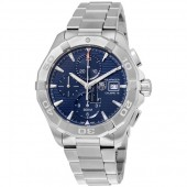 Tag Heuer Aquaracer Automatic Chronograph Blue Dial Stainless Steel Men's Watch CAY2112.BA0927 fake.