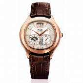 Piaget Emperador Automatic Silver Dial Brown Leather Men's Watch G0A32017 replica