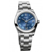 Fake Rolex Oyster Perpetual 31mm Azzuro Blue Dial 177200 blro