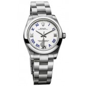 Fake Rolex Oyster Perpetual 31mm White Lacquer Dial 177200 wblro
