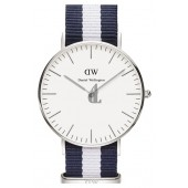 $85:Discounts Daniel Wellington Classic Glasgow Round NATO Strap Watch 36mm