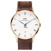 $99:Discounts Daniel Wellington Dapper St. Mawes Leather Strap Watch 38mm