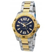Replica Longines Heritage L3.647.3.56.7 Mens Round Gold Tone with Stainless Steel Quartz Watch