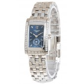 Replica Longines Dolce Vita L5.155.0.99.6 Womens Blue Dial Stainless Steel Watch