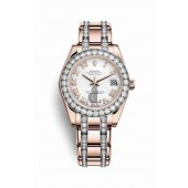 Rolex Pearlmaster 34 Everose gold 81285 White Dial
