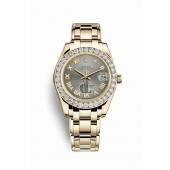 Rolex Pearlmaster 34 yellow gold 81298 Steel Dial