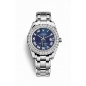 Rolex Pearlmaster 34 white gold 81299 Blue Dial