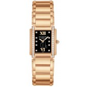 Fake Patek Philippe Black Dial 18kt Rose Gold Diamond Ladies Watch 4908-11R-001