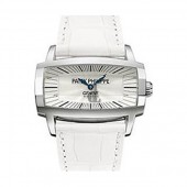Fake Patek Philippe Gondolo Gemma Mother Of Pearl Dial White Leather Ladies Watch 4980G