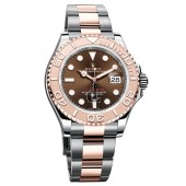 imitation Rolex Yacht-Master 116621CHSO Chocolate Dial Steel and 18K Everose Gold Oyster Watch